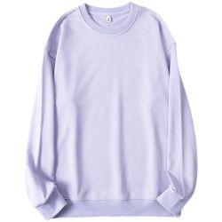 Usura comoda della maglietta rotonda del collo del poliestere del panno morbido del maglione di Hoodie