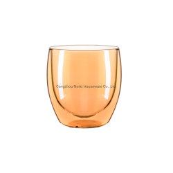 방열 8oz 붕규산염 두 배 벽 유리 컵