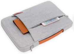 Ventes directes en usine simple ordinateur portable sac à main pour MacBook 13 14 15 pouces avec un sachet intérieur en velours de marche arrière