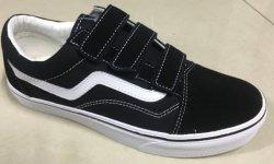 La vente en gros de chaussures occasionnel Sneaker Chaussures avec caoutchouc et en cuir véritable 25 couleurs Plus pour les chaussures de toile en daim Stock chaussures en toile avec daim