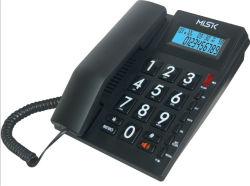 Классический дизайн большие кнопки телефона проводной телефон идентификатор вызывающего абонента номер телефона для старших людей с большим номером клавиши для управления и использования в домашних условиях