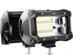 運転席: 72 W ダブルローフラッドバー( 10800 ルーメン トラックジープ ATV UTV のための霧 LED オフロードライト SUV ボートマリン