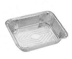Folha de alumínio e recipiente de alimentos 32X26X6.5cm 1/2 Steamtable Pan profunda Rec32267f com tampa de alumínio ou de plástico da tampa da dome Yysmallcap1 Comprador