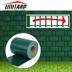 الخدمة الشاقة مضادة للأشعة فوق البنفسجية 19 سم*35 م شرفة حديقة الجدار البلاستيكي PVC دوران تخطيط متطلبات المواد