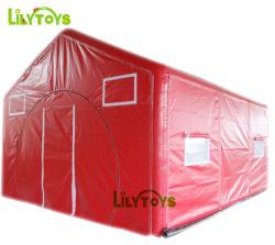 気密の膨脹可能な緊急のテント、膨脹可能な医学の救急処置のテントは、標準的のLilytoysがなす膨脹可能なPVC気密のテント~を出荷するために用意する