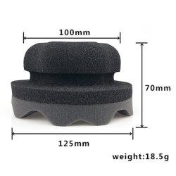 Los neumáticos de tipo onda vestirse mango hexagonal de herramientas de mano de aplicador de esponja de depilación con cera de neumáticos