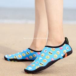 Sola grossa praia a montante as crianças no interior da casa de meninos e meninas de calçado de sola programável Non-Slip Calçados bebê calçados de Mergulho