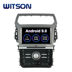 Speler DVD van de Radio van Auto 9.0 van Witson de Androïde Stereo voor GPS van de Navigatie van het Voertuig van de Versie van het Airconditioningstoestel van de Ontdekkingsreiziger van de Doorwaadbare plaats AutoVideo
