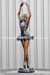 아름다운 발레 걸상과 청동 조각상 (B011)