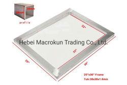 25 X 36 дюйма Pre-Stretched алюминиевых шелк трафаретная печать кадров с 160 белого цвета сетки