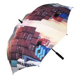 Il blocco per grafici automatico della vetroresina progetta l'ombrello per il cliente di golf, grande ombrello su ordinazione supplementare di golf della stampa