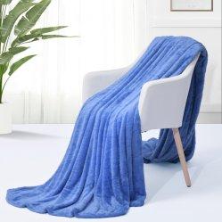 Trama ultra suaves mantas de lana tejida y lanzan Super acogedor