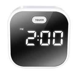재충전 전지를 가진 색깔 변화 진정시키는 LED 정취 빛 소리 통제 LED 시계