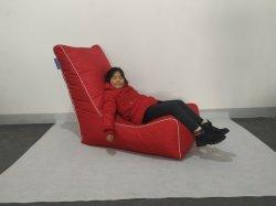 Deitado Beanbag cadeira em Lona de Algodão ou tecido Sofá