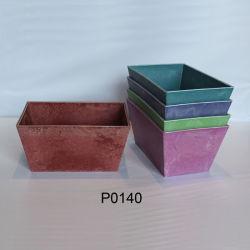Design personalizado para interiores e exteriores vasos de plantas de fibras coloridas