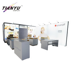 Modern Style Lightweight Movable Free Standing Display Messestand