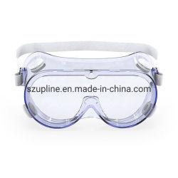 Impacto / salpicos de óculos de protecção para os olhos, Anti-Fog Óculos de protecção da lente clara Wide-Vision