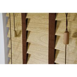 Externo Interno White Faux Wood Venezianas de PVC persianas de Plantio
