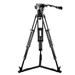 비디오 카메라용 E-Image Professional Fluid Head 및 알루미늄 삼각대 (EG15A2)