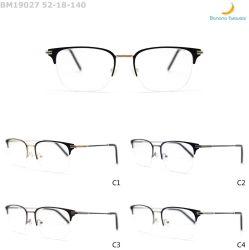 Produzido na fábrica sobrancelha confortável grossista metade da estrutura de óculos óptica de metal da RIM