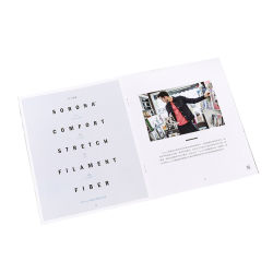 사용자 정의 인쇄 컬러 광고 사진 소개 브로셔