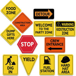 La construcción de aluminio reflectante signos de la gestión del tráfico del sitio