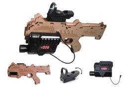 pistola della modifica del laser di 600FT con gioco esterno/dell'interno, professionale del cappello, di battaglia, il materiale di legno, le configurazioni completamente Editable del gioco e della pistola