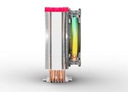 CPU-Kühler mit 6 Heat-Pipes und Top ARGB Platte