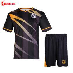Aibortの高品質の昇華黒のサッカーのユニフォーム(VS01)