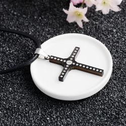 Религиозной католической украшения мода мужчин из нержавеющей стали креста пульта управления