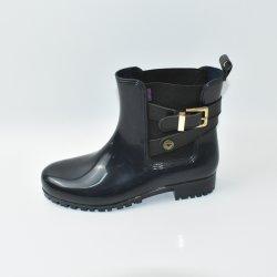 Comercio al por mayor de moda de caucho natural de mantener la lluvia cálida botas para mujer