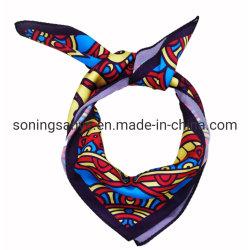 Дамы шарфы печатных цветов полиэстер Satin вещи квадратных Шарфа
