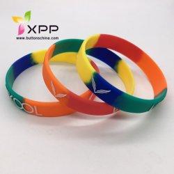 Bracelets en caoutchouc personnalisé à la mode multicolore bracelet en silicone