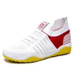Pattini correnti piani esterni superiori respirabili lavoranti superiori del calzino del banco delle ragazze di modo della scarpa da tennis di sport tessuti mosca di colore con il sottopiede molle