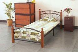 Vente d'usine dortoir Cadre de fer métallique moderne en bois d'enfants Meubles de chambre à coucher Lits superposés