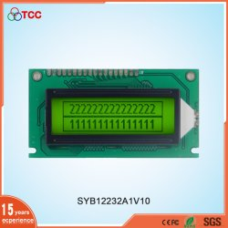 Industrie-LCD 122X32 Grafik-Stn/Positiv 18-polig Anzeigemodul 122 * 32 Gelb-Grün-Display-LCD-Bildschirm