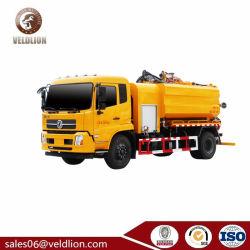 Pulsometro del Moro con il camion di sciaquata rapido della fogna di Dongfeng Kingrun di scarico e di aspirazione, camion di trivellazione a getto della fogna, camion più pulito di trivellazione a getto della fogna
