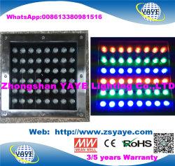 Yaye 18 Hot vender MAZORCA IP67 5W/7W/10W/12W/20W/24W/30W/40W/48W/50W LED de luz de tierra de metro/LED luz enterrada/LED Lámpara de luz enterrada con 2/3 años de garantía