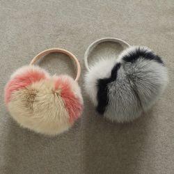 As mulheres de inverno de peles quentes Multicolor protectores de peles de coelho Earflap Senhoras Bonitinha Plush Earmuff