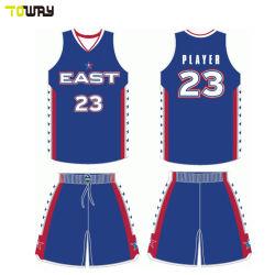 Última Sportswear Custom se sublima barato uniformes de basquete camisolas para homens