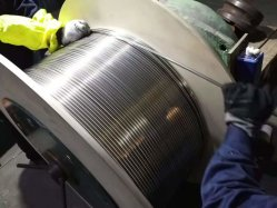 SS316 en acier inoxydable ou SS304 Tube soudé bobine 1/4 de pouce à 2 pouces