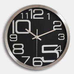 Haut de page La vente de plastique et le couvercle en verre 10 pouces Cheap Horloge murale antique