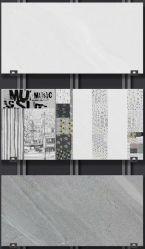 Серый цвет глянцевая поверхность стены керамическая плитка для ванной комнаты