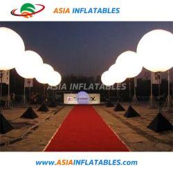 Decoración iluminación inflables inflables globos permanente para la publicidad