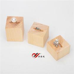 Цилиндрический деревянный кольцо подставка для дисплея установить пользовательские кольцо держателя
