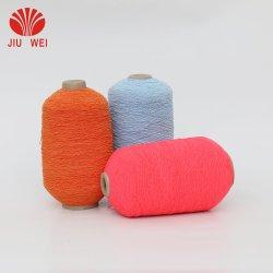 Caoutchouc élastique spandex polyester recouvert de caoutchouc Revêtement en caoutchouc pour les gants de fils de spandex