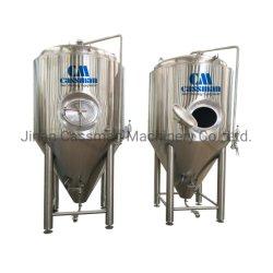 Cassman SUS304 1000L 10hl forrados cónica fermentador tanque para fábrica de cerveza