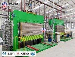 Версия с возможностью горячей замены фанеры нажмите машины для деревообрабатывающего гидравлической системы