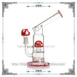 Tuyau d'eau en verre de champignon rouge fumer soufflé à la main barboteur DAB l'huile d'age