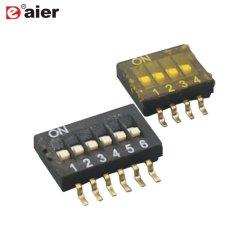 . 0,1 50VDC Preto Elétrico Half-Pitch SMT Tipo Interruptor DIP